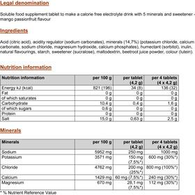 PowerBar 5 Electrolytes Zero Calorie Sport Drink Compresse 10 pezzi, Mango-Passion Fruit